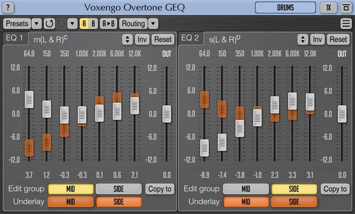 Voxengo Overtone GEQ Version 1 12